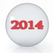 Free 2014 Year Is In A Transparent Ball Stock Image - 35872771