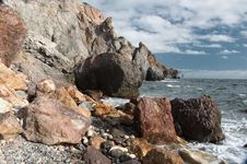 Free Rocky Coast Of The Black Sea Stock Photography - 35875092