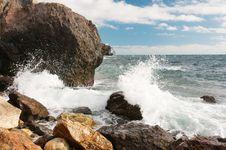 Free Rocky Coast Of The Black Sea Stock Photos - 35875353