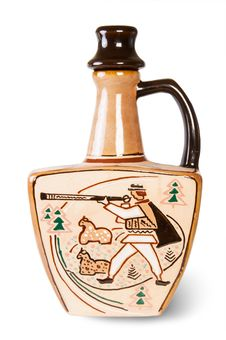 Ancient Wine Jug Stock Photography