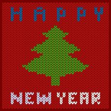 Free Knitted Fabric New Year Stock Photos - 35877763