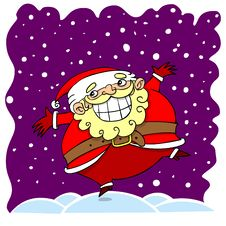 Free Cartoon Santa Clause Stock Image - 35878151
