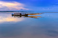 Free Fishing Boat On The Lake In Vietnam Stock Photo - 35881610