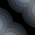Free Abstract Dark Grey Paper Circles Background Stock Photos - 35888753