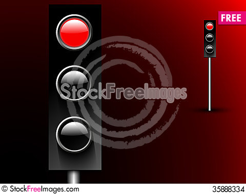 Free Red Stop Light Stock Images - 35888334