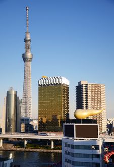 Free Tokyo Sky Tree Viewed From Asakusa Skyscraper, Tokyo, Japan. Stock Image - 35882091