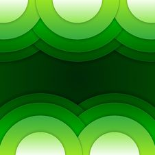 Free Abstract Green Round Shapes Background Royalty Free Stock Photography - 35888747