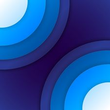 Free Abstract Blue Paper Circles Background Stock Photography - 35888782
