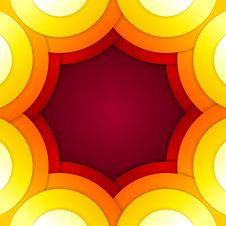 Free Abstract Red And Orange Circles Vector Background Stock Image - 35888791