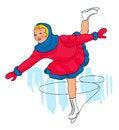 Free Girl Figure Skating Stock Image - 35890031