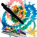 Free Digital Watercolors Royalty Free Stock Photos - 35893448