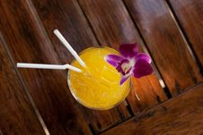 Free TROPICAL COCTAIL WITH STRAWS Stock Image - 35891051