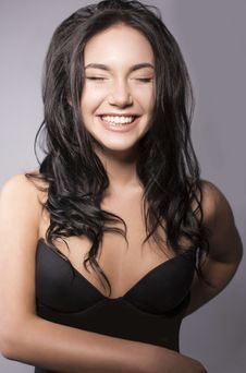 Free Portrait Of Laughing Girl Stock Photos - 35893133