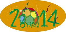 Free Brasil 2014 Ball Colorfull Stock Photography - 35896182