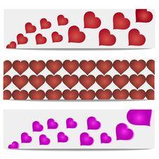 Free Vector Illustration Heart Banner Stock Photos - 35896833