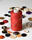 Free Reel Of Red Thread And Button Royalty Free Stock Photos - 3592128