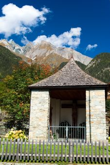 A Chapel In Mountains Stock Image