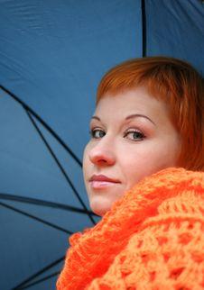Free Woman With Umbrella Stock Photo - 3590450