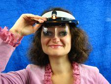 Free Woman In Binocular Headband Stock Photos - 3590533