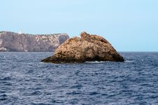 Free Large Rock Near Isla Conejera Stock Photos - 3591093