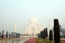 Free Taj Mahal In The Mist Stock Photos - 3591533