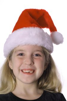 Free Child In A Santa Hat Stock Image - 3591761