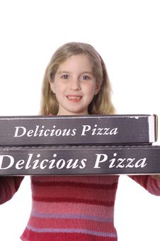 Free Pizza Delivery Child Stock Images - 3591784
