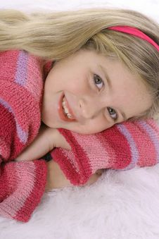 Free Gorgeous Child In A Pink Sweat Royalty Free Stock Photo - 3591855