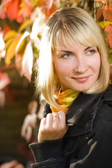Free Girl On Autumn Background Stock Photo - 3591950