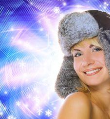 Free Girl In Winter Fur-cap Stock Photos - 3592003