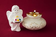 Free Icon Lamp And An Angel Stock Photos - 3592243