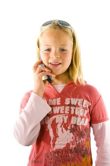 Young Girl On The Phone Stock Photos