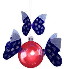 Free Snowflake Butterfly Christmas Stock Photography - 3592472
