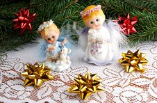 Free Christmas Angels Royalty Free Stock Photo - 3592975