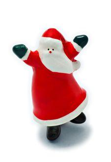 Dancing Santa Claus Stock Images