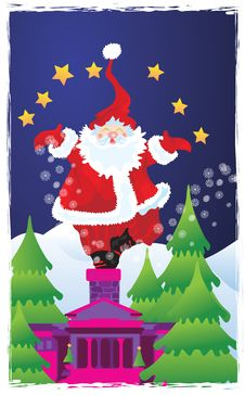 Free Santa S Chimney Stock Photos - 3595033