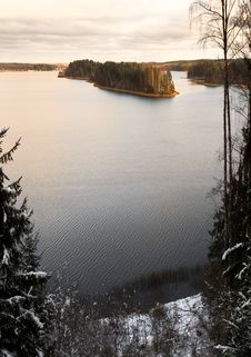 Free Forest Lake Royalty Free Stock Photography - 3595137