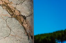Close Up Of Marble Column Royalty Free Stock Photo