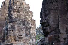 Free Angkor Face Royalty Free Stock Photo - 3596275