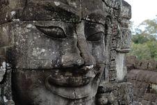 Free Angkor Face Royalty Free Stock Photo - 3596305