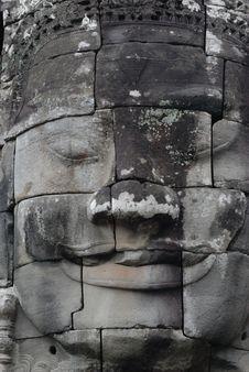 Free Angkor Face Royalty Free Stock Photo - 3596355