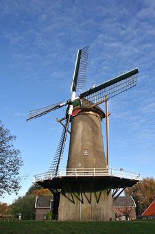 Free Dutch Windmill Stock Photo - 3596570