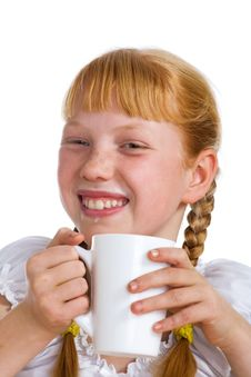 Free Girl With A Milk Mug Stock Photo - 3597250