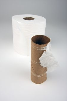 Free Empty And Full Toilette Paper Rolls Royalty Free Stock Photo - 3597925