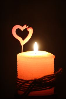 Free Candle In The Dark Stock Photo - 3598020
