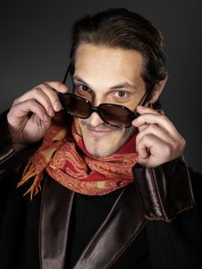 Free Man With Shawl Stock Photos - 3598263