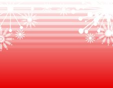 Snowflake Stripes Background Royalty Free Stock Photos