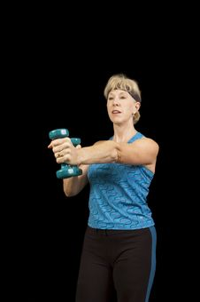 Free Baby-boomer Woman Keeping Fit Royalty Free Stock Images - 3598409