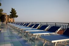 Free A Row Of Sun Loungers At Dawn Stock Photos - 3598673