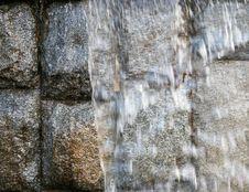 Free Bricks Behind A Waterfall Stock Photography - 3599202